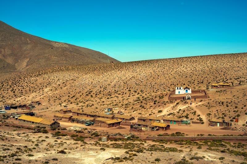 Чилийская деревня в atacama стоковая фотография