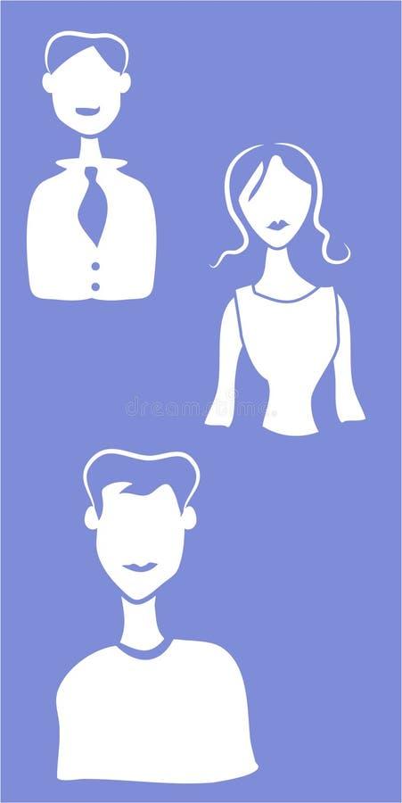 члены иконы иллюстрация вектора
