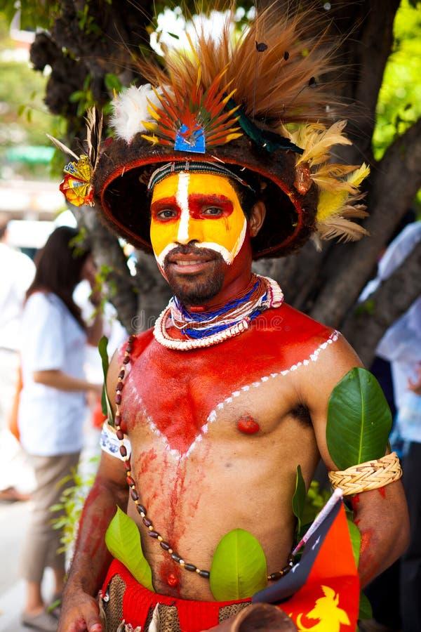 член племени Папуа гинеи новый стоковые фотографии rf