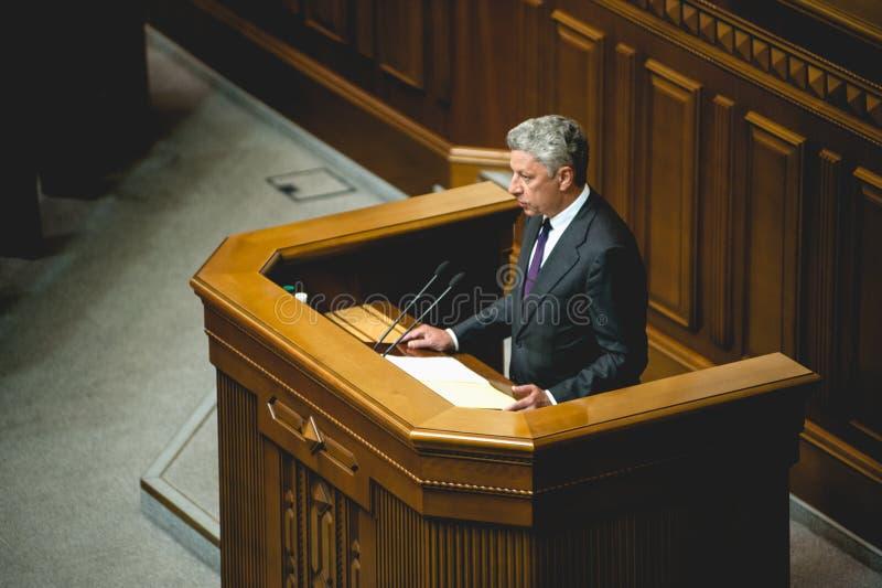 Член Yuriy Boyko парламента Украины стоковая фотография rf