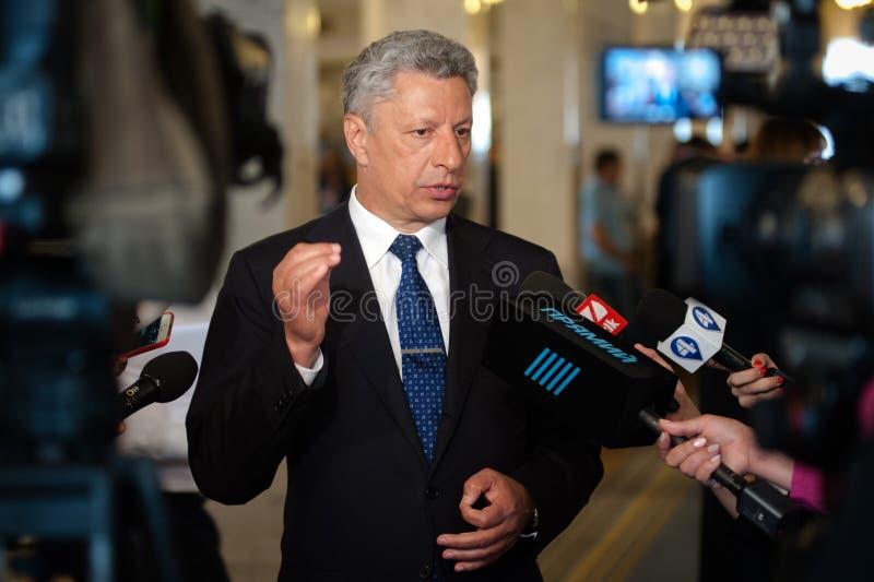 Член Yuriy Boyko парламента Украины стоковая фотография