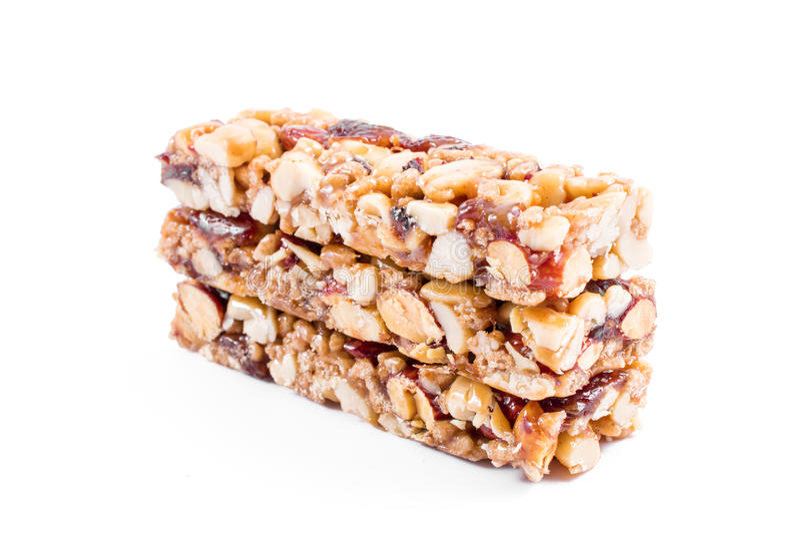 Чокнутые бары granola стоковые фотографии rf
