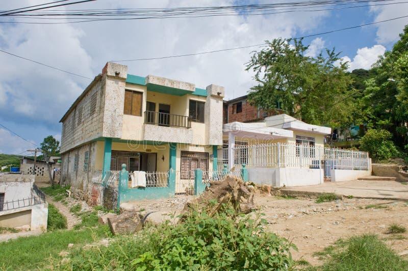 чолумбийский внешний дом стоковое фото