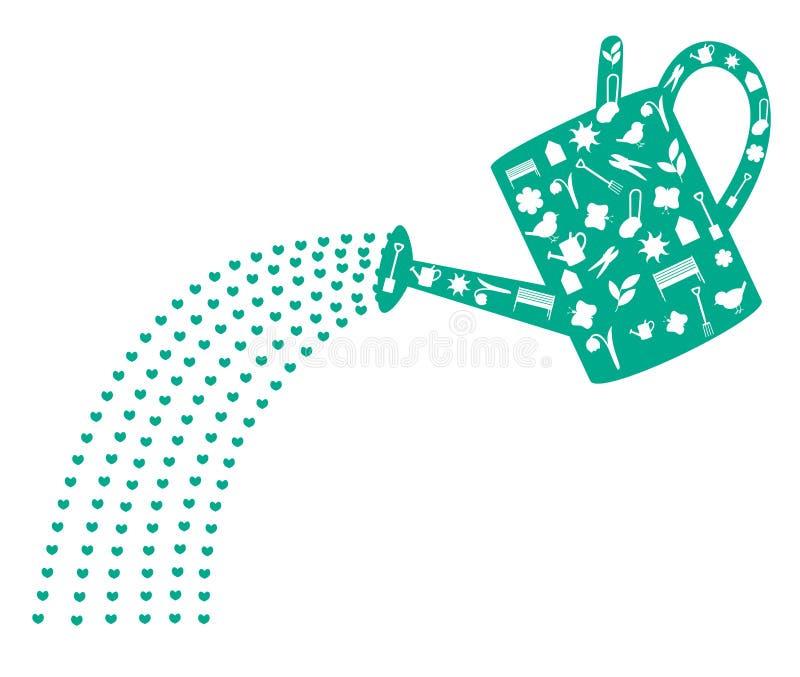 Чонсервная банка воды иллюстрация штока