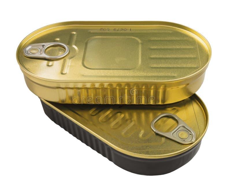 Чонсервные банкы еды металла стоковые изображения rf