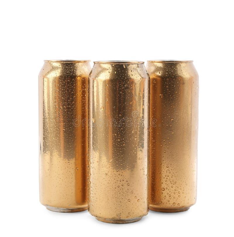 Чонсервные банкы пива стоковые изображения rf
