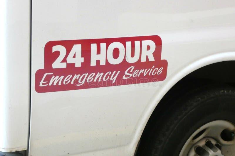 24 чрезвычайного обслуживани стоковое фото rf