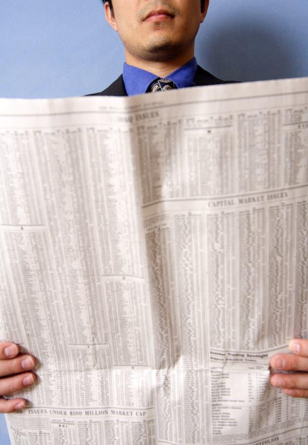 чтение бизнесмена стоковые фотографии rf