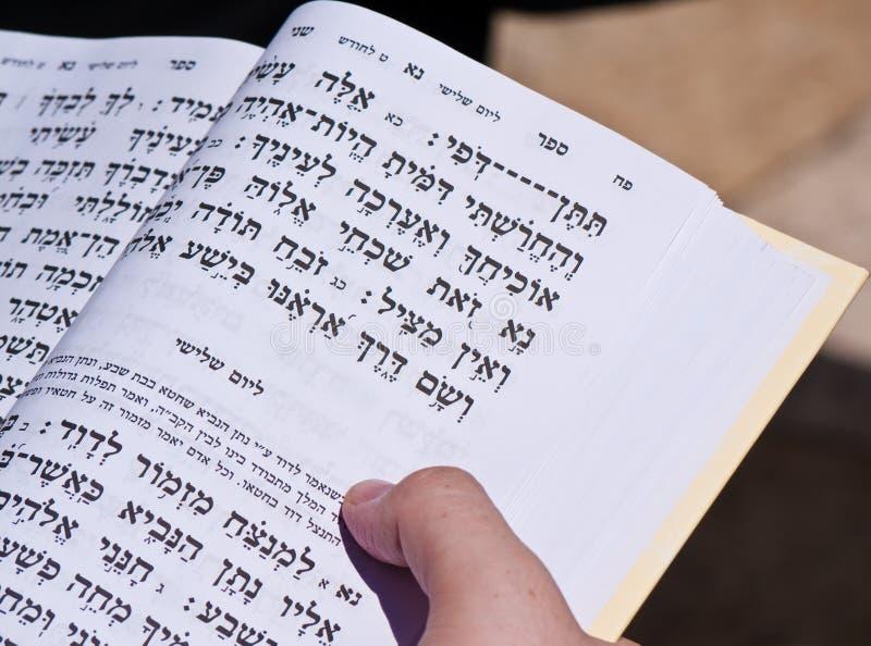 чтение Иерусалима библии еврейское стоковые фото