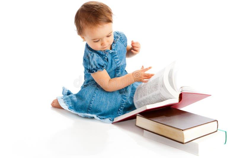 чтение малыша стоковые фотографии rf