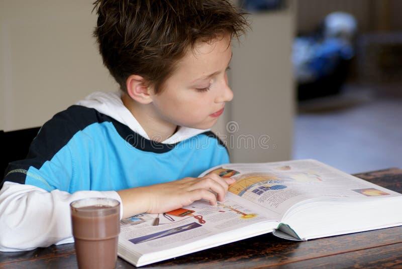 чтение мальчика стоковое фото