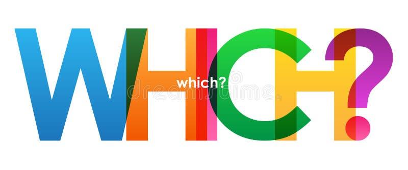 ЧТОЧТО? красочное перекрывая знамя вектора писем иллюстрация штока