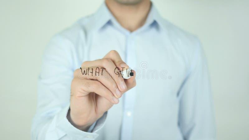 Что дает вам смысл? , Пишущ на прозрачном экране видеоматериал