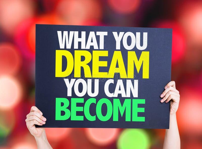 Что вы мечтаете вы можете стать карточкой с предпосылкой bokeh стоковое изображение