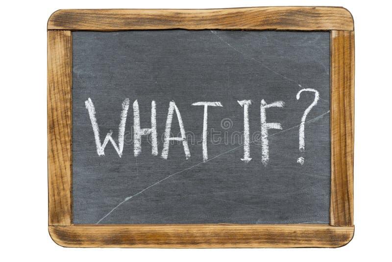 Что если спросите стоковое фото rf