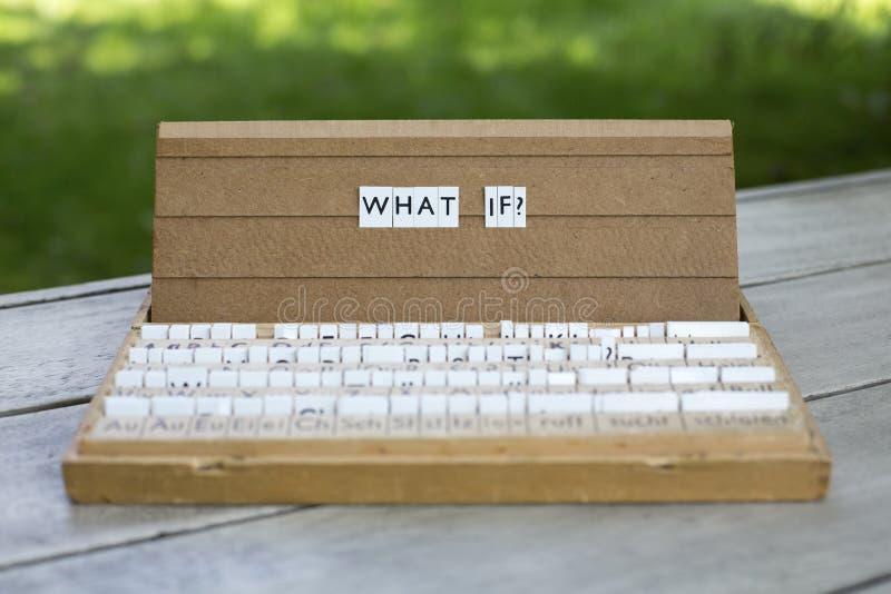 Что если? стоковое изображение