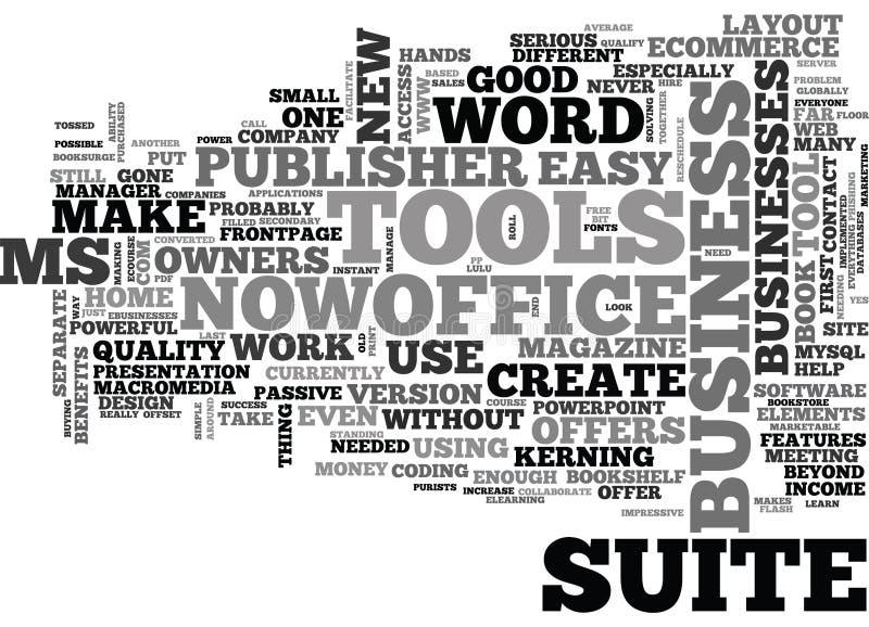 Что делает облако слова владельцев бизнеса предложения госпожи пакета Майкрософт Офиса иллюстрация вектора