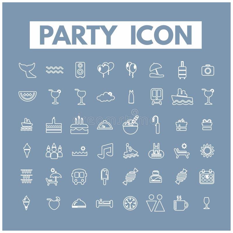 что-нибыдь как кнопки консервирует другие иконы party используемая сеть вектора иллюстрация штока