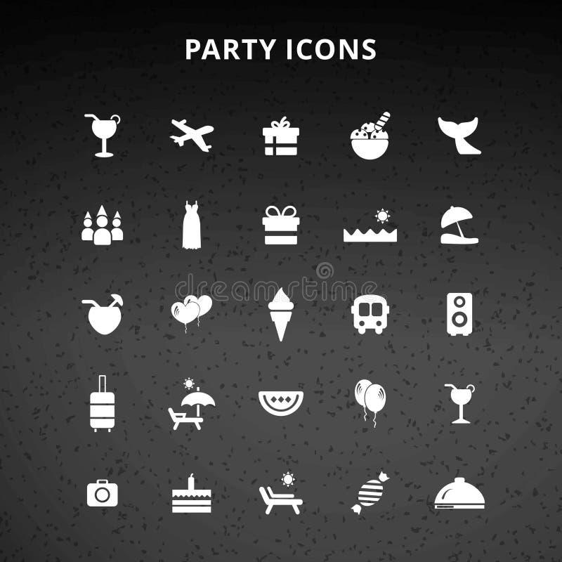 что-нибыдь как кнопки консервирует другие иконы party используемая сеть вектора иллюстрация вектора