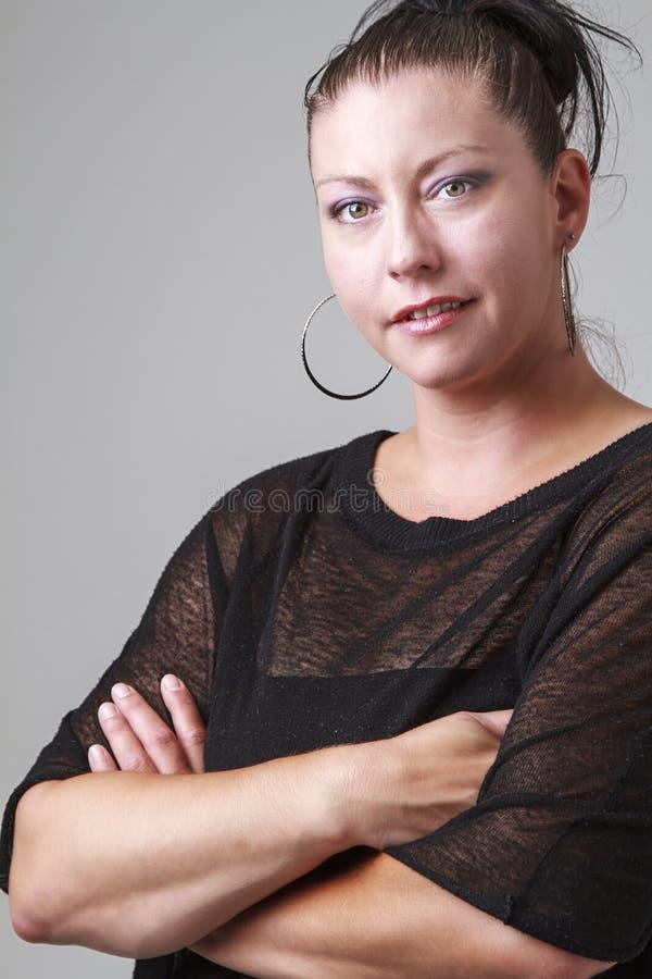 30-что-то женщина стоковая фотография rf