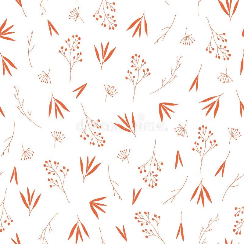 Чувствительная оранжевая картина листьев осени падения безшовная бесплатная иллюстрация