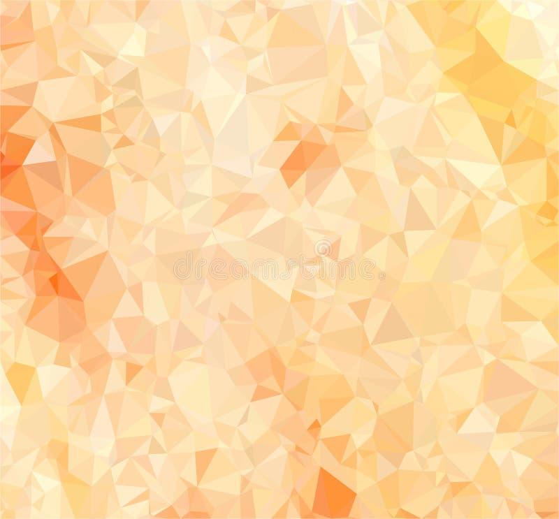 Чувствительная предпосылка персика от треугольников стоковые фото