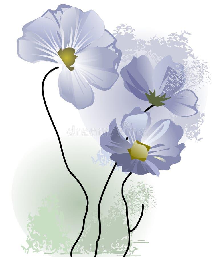 чувствительные цветки пастельные иллюстрация штока