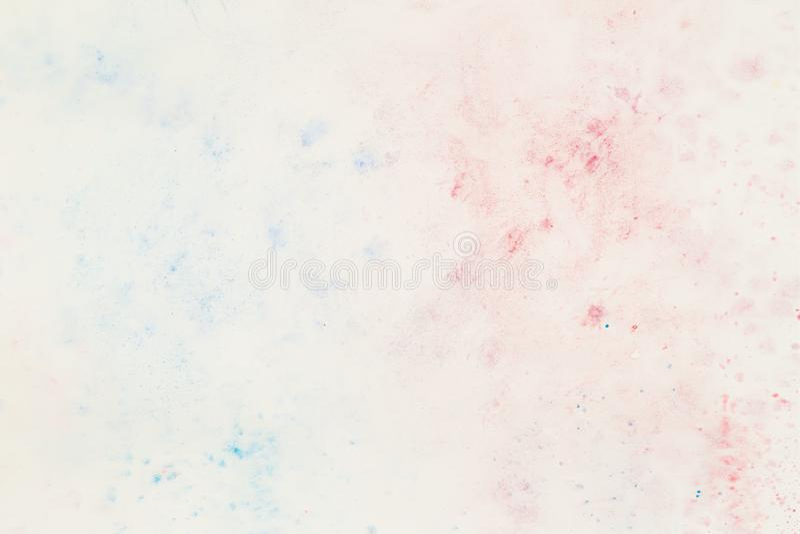 Чувствительный в мягких пастельных тенях colorwater, пятне выплеска белой бумаги абстрактная акварель предпосылки иллюстрация штока