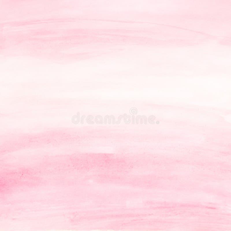 Чувствительный свет - розовая предпосылка акварели для дизайна стоковая фотография rf