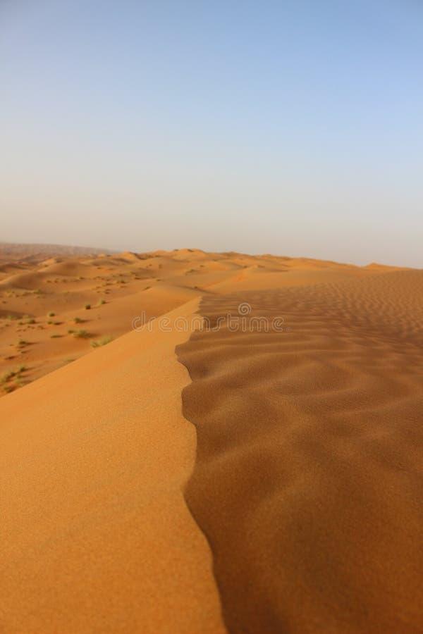 Чувство дюн в песках Wahiba, Оман стоковое фото