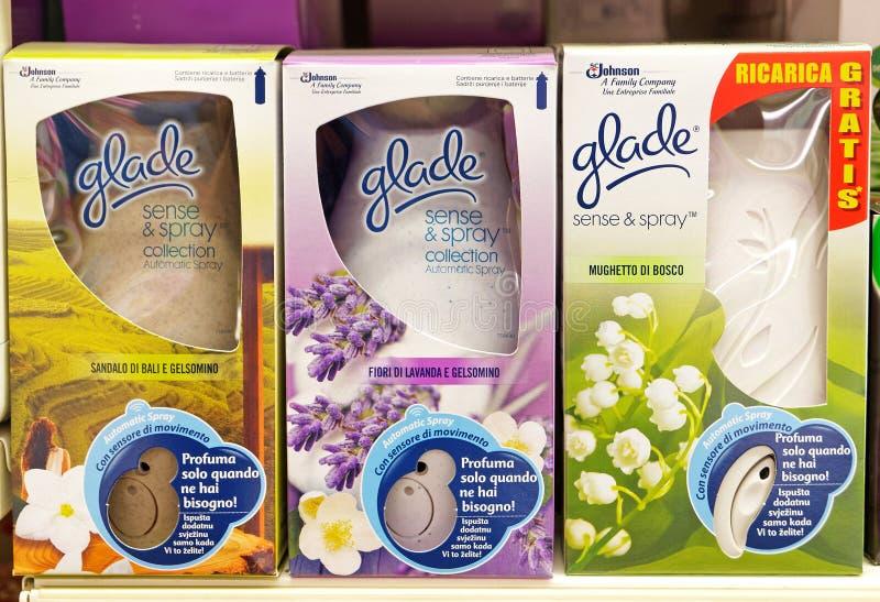 Чувство Glade & Freshener брызга автоматический стоковые фото