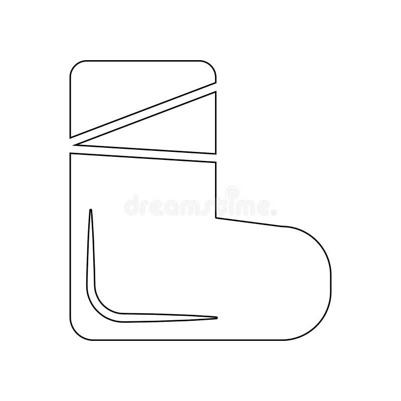 Чувствуемый значок ботинка r r иллюстрация штока