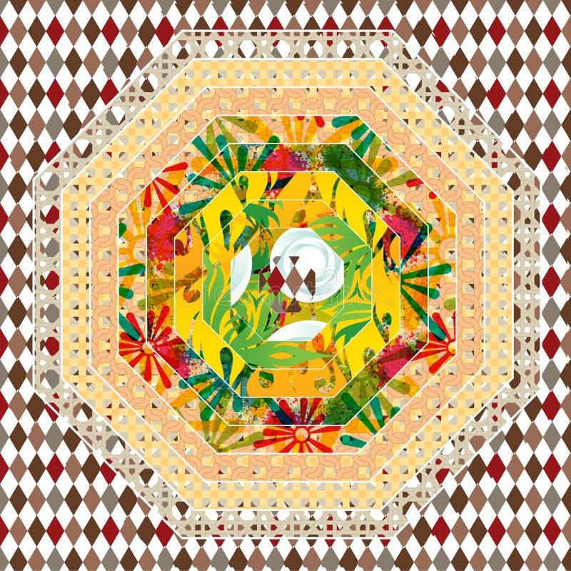 Чудесная иллюстрация фантазии стиль ткани стоковое фото rf