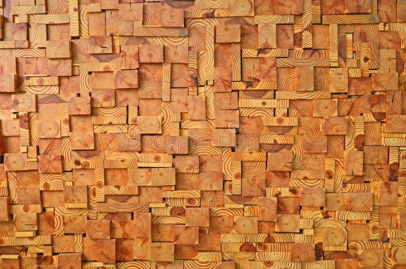 Чудесная квадратная картина кусков дерева стоковая фотография