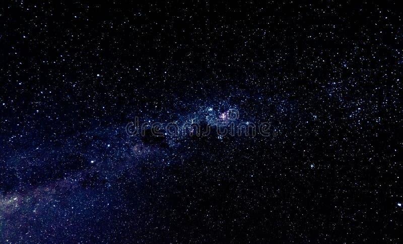 Чудесное фото ночного неба, предпосылка млечного пути стоковые изображения rf