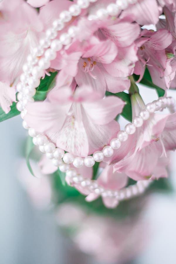 чудесные украшения жемчуга стоковые фото