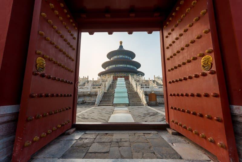 Чудесный и изумляя висок Пекина - Temple of Heaven в Beiji стоковое изображение