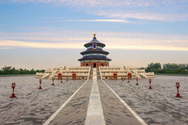 Чудесный и изумляя висок Пекина - Temple of Heaven в Beiji стоковое изображение rf