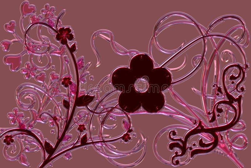 Чудесный конспект проиллюстрировал стеклянный дизайн иллюстрация вектора