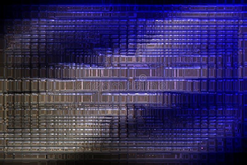 Чудесный конспект проиллюстрировал стеклянный дизайн иллюстрация штока