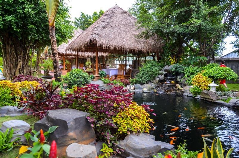 Чудесный покрашенный сад в Азии стоковая фотография