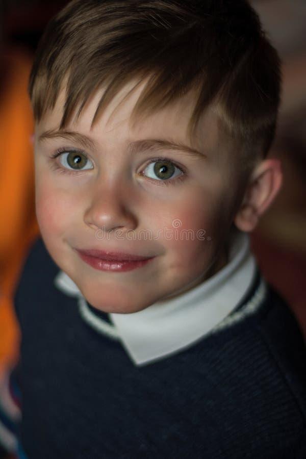 Чудесный портрет украинского четырёхлетнего мальчика стоковое изображение rf