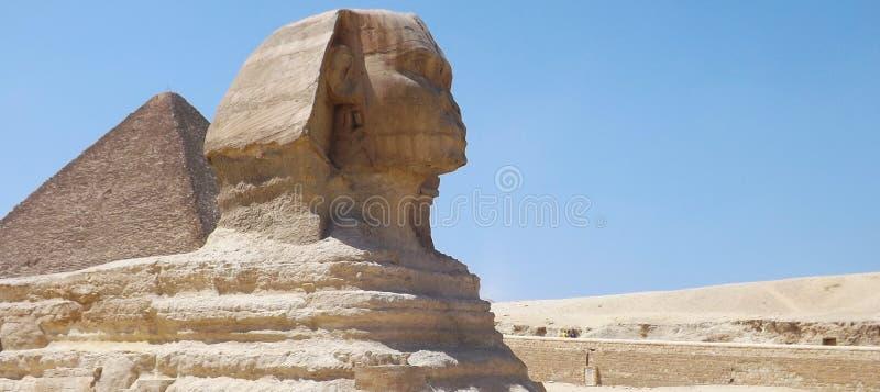 Чудесный сфинкс в пустыне стоковое изображение rf