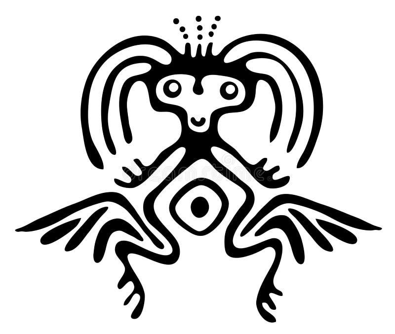 Чужеземец в родном стиле, иллюстрации вектора иллюстрация штока