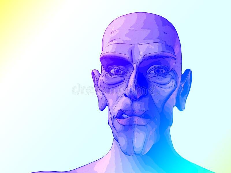 Чужеземец 12b иллюстрация штока