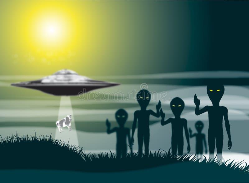 чужеземец abductuion иллюстрация штока