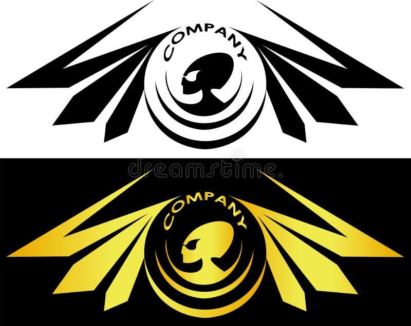 Чужеземцы окруженные крылами и логотипом чужеземца надписи иллюстрация вектора