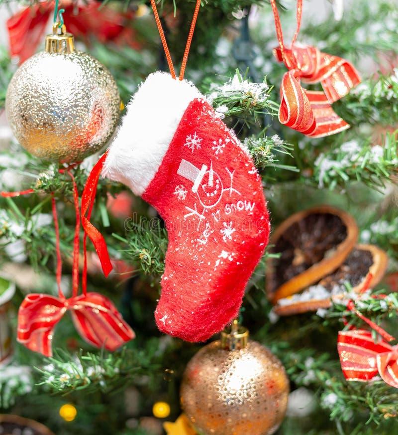 чулок Дерево украшение праздник Рождество стоковая фотография rf