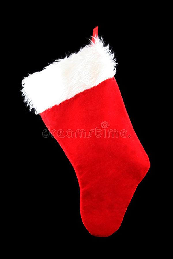 чулок рождества вися стоковое фото rf