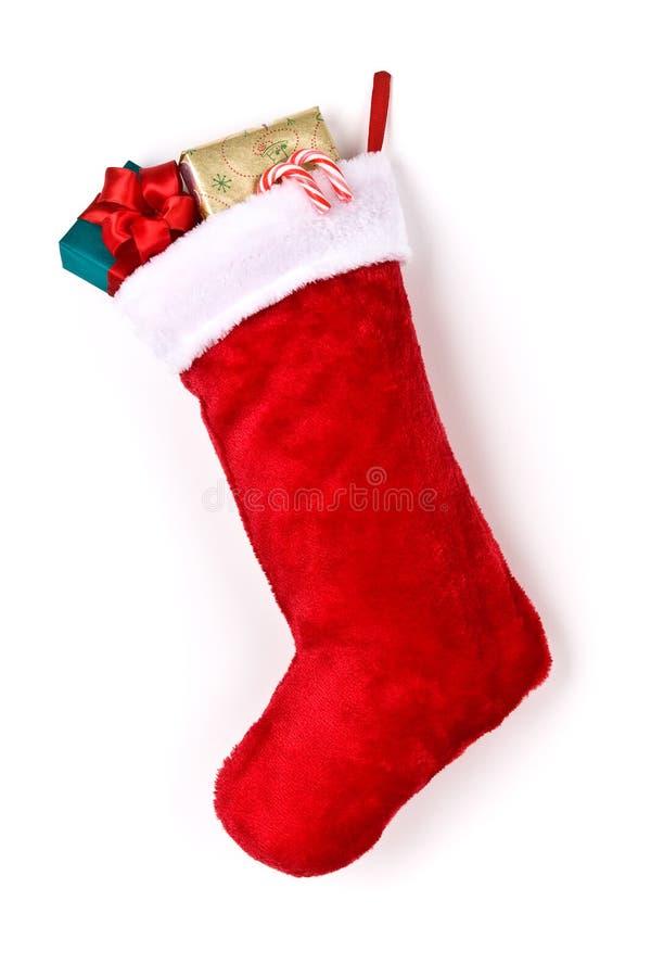 чулок рождества заполнил стоковое фото rf